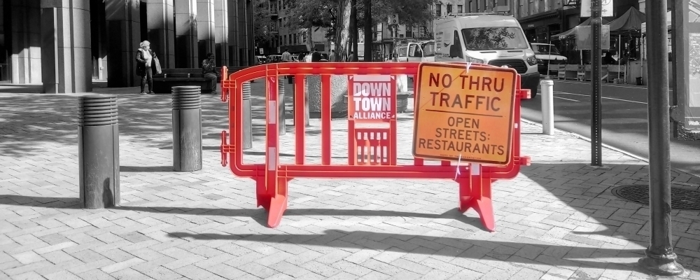 Movit Barricades for Open Streets and Open Restaurants in Business Improvement Districts
